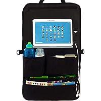 Organiseur pour siège arrière de voiture et siège arrière support de tablette pour enfants – Plus de voyage dans un Silence Happy avec nos Multi-Purpose Organiseur de voiture et bien Rangé avec une touche d'écran support de tablette ou DVD support et poches à 5 XL