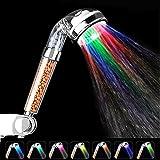 LED Duschkopf, Hohe Druck Spa Dusche Ionic Filter Handbrause, entfernt Schwermetalle, Chlor, Bakterien spart Wasser, Prävention von Haarausfall und trockene Haut–7Farbe wechselnden