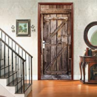 3D-deurbehang, zelfklevend, deurposter, houten deur, deursticker, fotobehang afpellen en opplakken, deurfolie…
