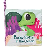 Manhattan Toy What's Outside Sea-Themed Soft Baby Activity Book with Rattle