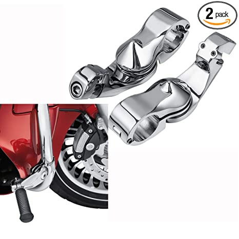 Foot Rests Automobiles & Motorcycles 32mm 1.25 Engine Guards Short Angled Adjustable Highway Peg Mount Kit For Road Glide Dyna Sportster Road King Chrome