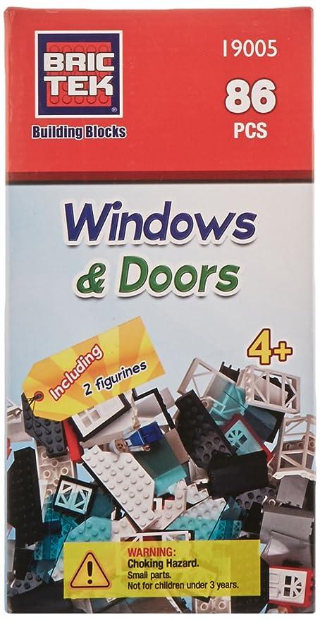 Brictek Windows u0026 Doors Kit- 86 pcs  sc 1 st  Amazon.com & Amazon.com: Brictek Windows u0026 Doors Kit- 86 pcs: Toys u0026 Games