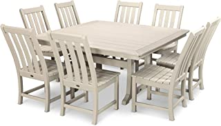 product image for POLYWOOD Vineyard 9-Piece Dining Set (Sand)