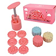HistenOne Bath Bomb Mold Making Kit- DIY Bath Fizzies Supplies with 6 Stamps - Make a Bomb in 5 Seconds