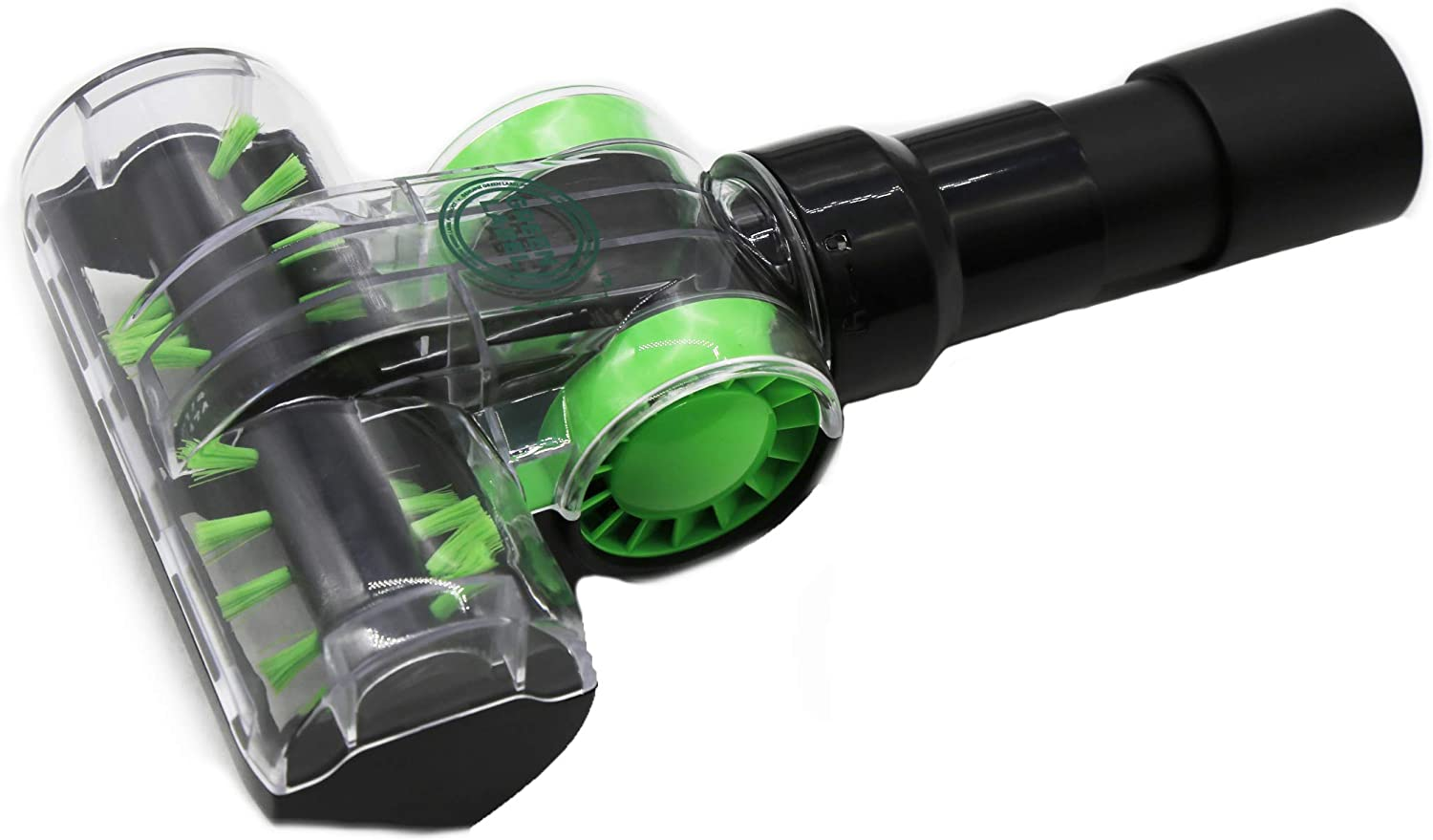 Universal Mini Turbo Brush (Tool) 32-35 mm For Most Vacuum Cleaners (Hoover, Dirt Devil, Bissell, Miele, Samsung, Electrolux, Kenmore, Panasonic and more). Genuine Green Label Product.