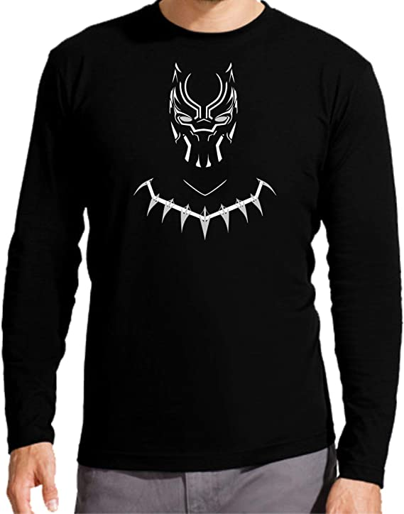 Camiseta Manga Larga de NIÑOS Avenger Los Vengadores Pantera Negra Black Panther: Amazon.es: Ropa y accesorios