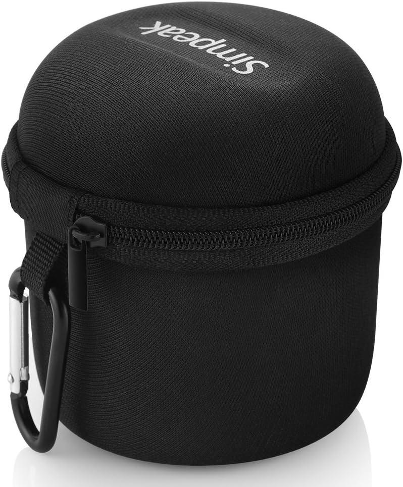 Simpeak Funda Altavoz Bluetooth Portátiles, Bolsa Ultra-Portable Cubierta Protectora Altavoz Bluetooth Caja Caso Viajar Compatible con Anker SoundCore,Negro