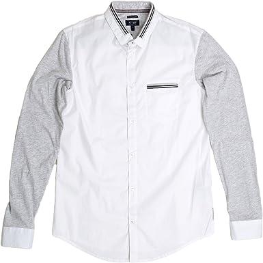 Armani Jeans - Camisa Casual - para Hombre Blanco Blanco Medium: Amazon.es: Ropa y accesorios