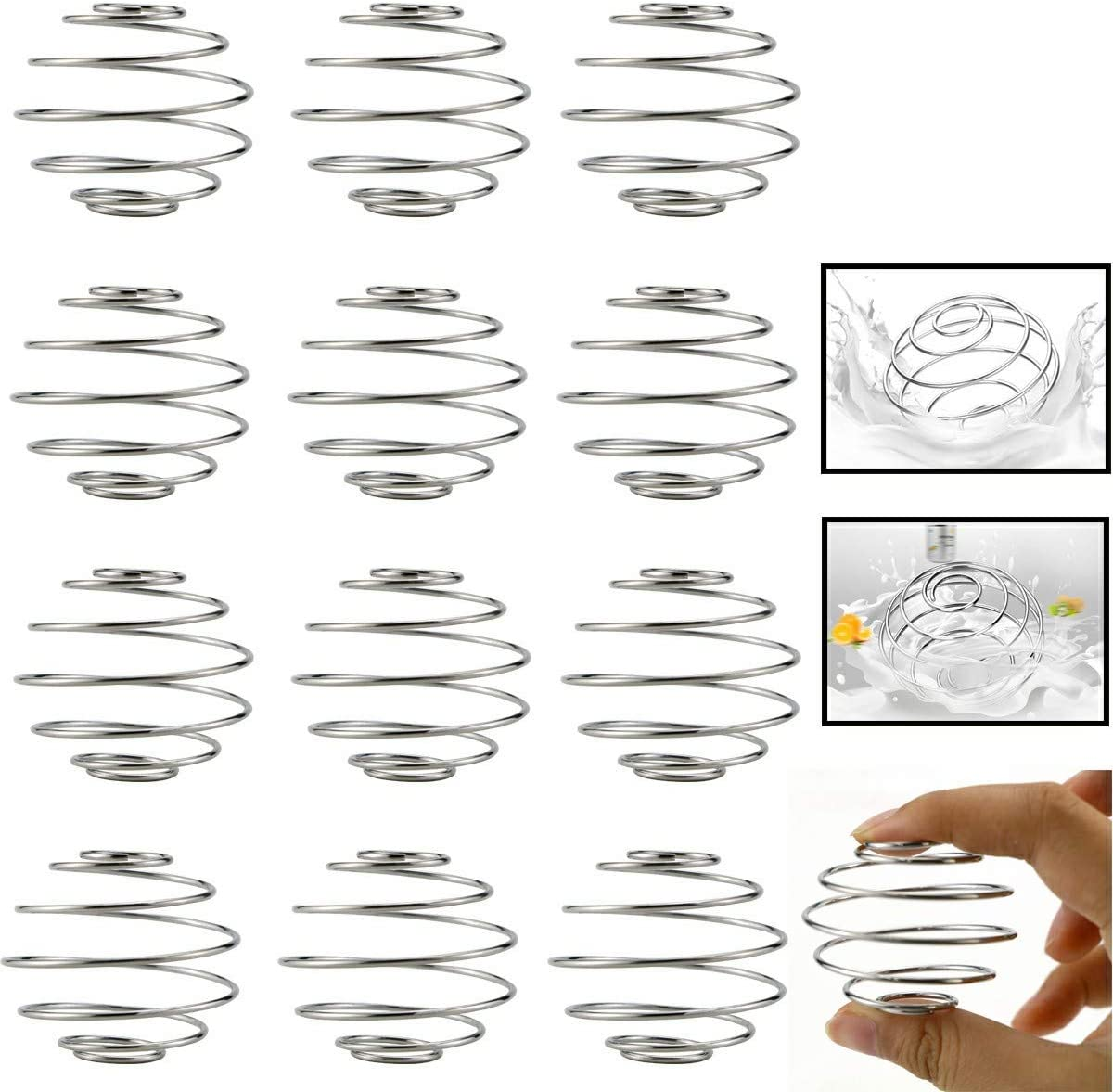 Heatoe 12 Pcs Milkshake Protein Shaker Ball Stainless Whisk Mixing Ball Wire Mixer Blender Ball Cup Bottle Whisk Ball For Protein Shakes Food Grade Stainless Steel
