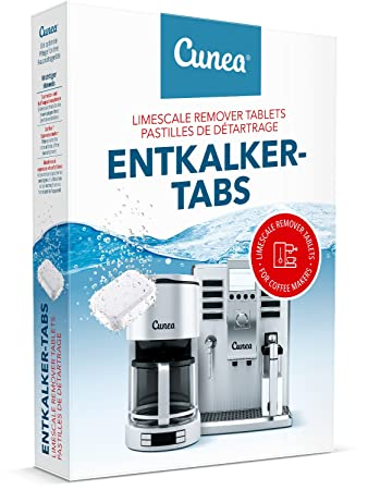 Entkalkungstabletten für Kaffeevollautomat, Kaffeemaschine, Espressomaschine 20x Entkalker-Tabletten a 16g pro Tablette