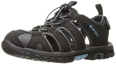 74d334a0147bec Hi-Tec Women s Cove Sandal Black Charcoal Forget Me Not 6 ...