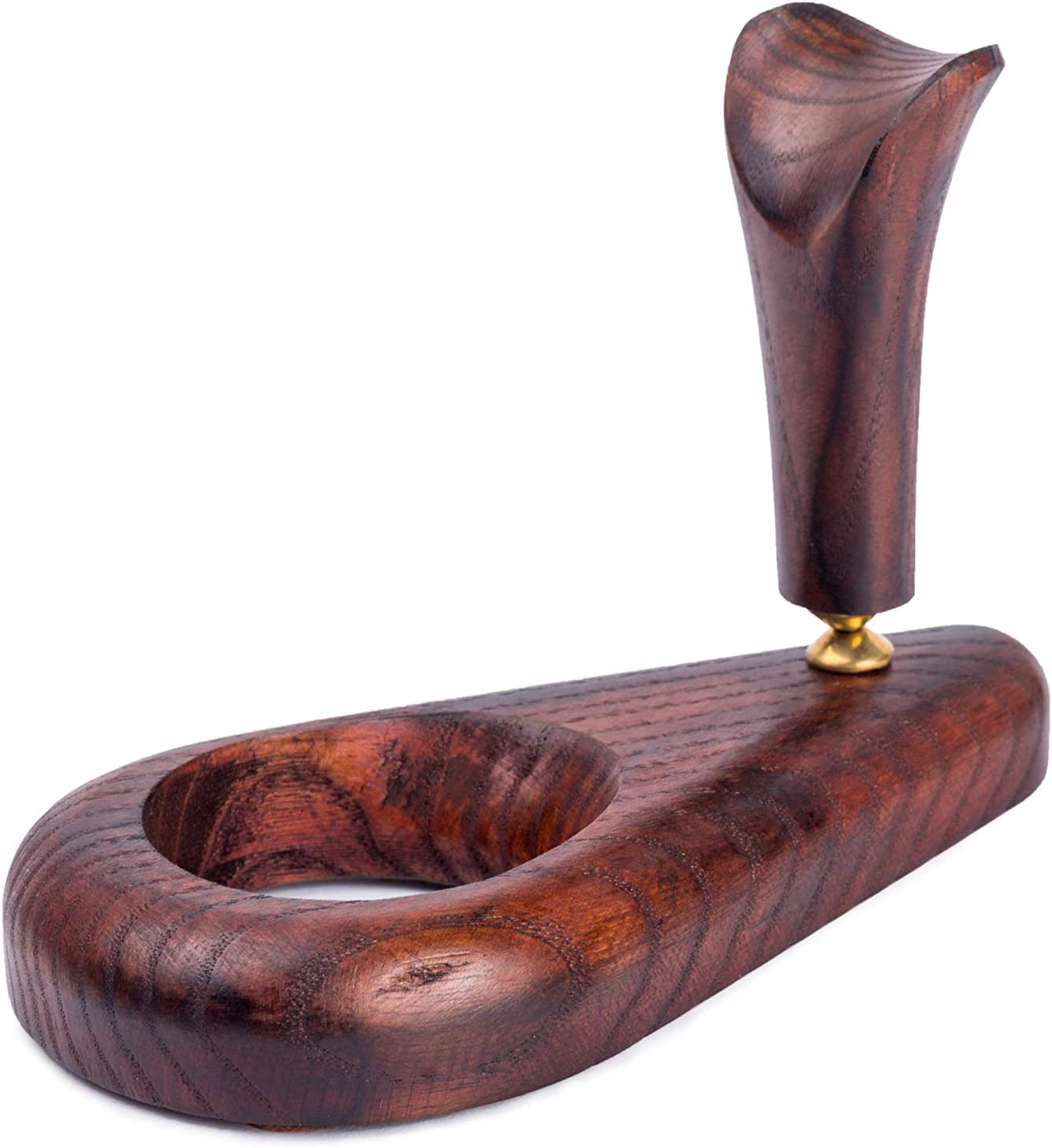 Tobacco Pipe Stand White Drop for one Smoking Bowl Single Rack Handmade Wooden Holder for 1 pipe Gift for Smoker Christmas gift
