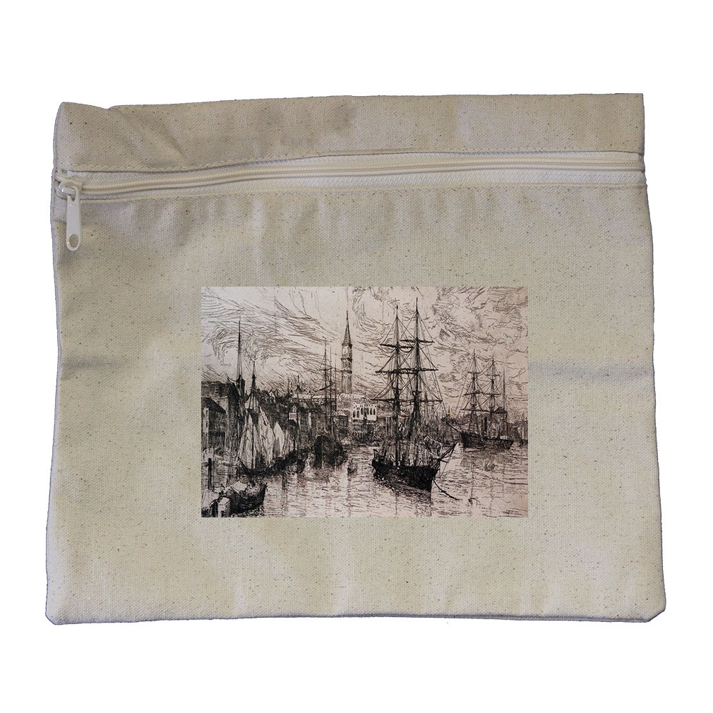 View From Whistlers Window (Whistler) Canvas Zippered Pouch Makeup Bag