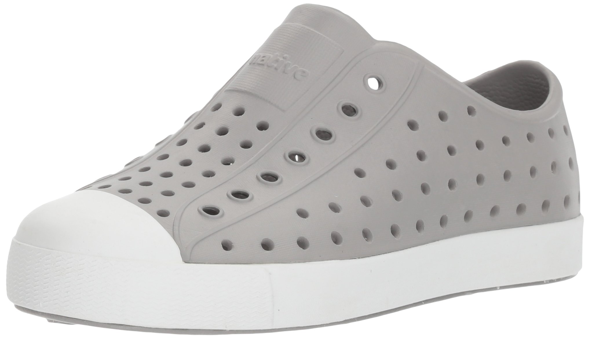 Native Kids Jefferson Junior Water Proof Shoes, Pigeon Grey/Shell White, 2 Medium US Little Kid by Native Shoes (Image #1)