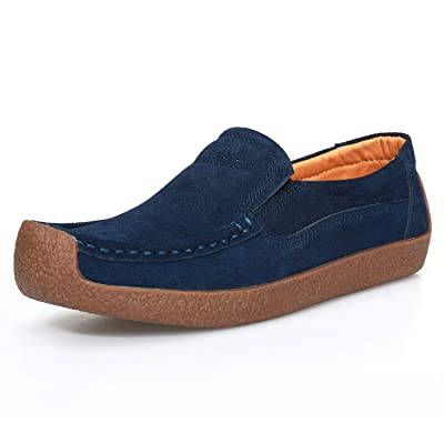 labato Women's Comfortable Loafers Suede Casual Slip-On Shoes for Walking Office | Loafers & Slip-Ons