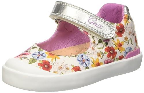 Geox B Kilwi Girl, Zapatos Primeros Pasos para Bebés, Blanco (White C1000), 23 EU