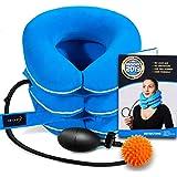 Dispositivo de tracción cervical para el cuello de NeckFix para alivio instantáneo del dolor de cuello, cuello ajustable para