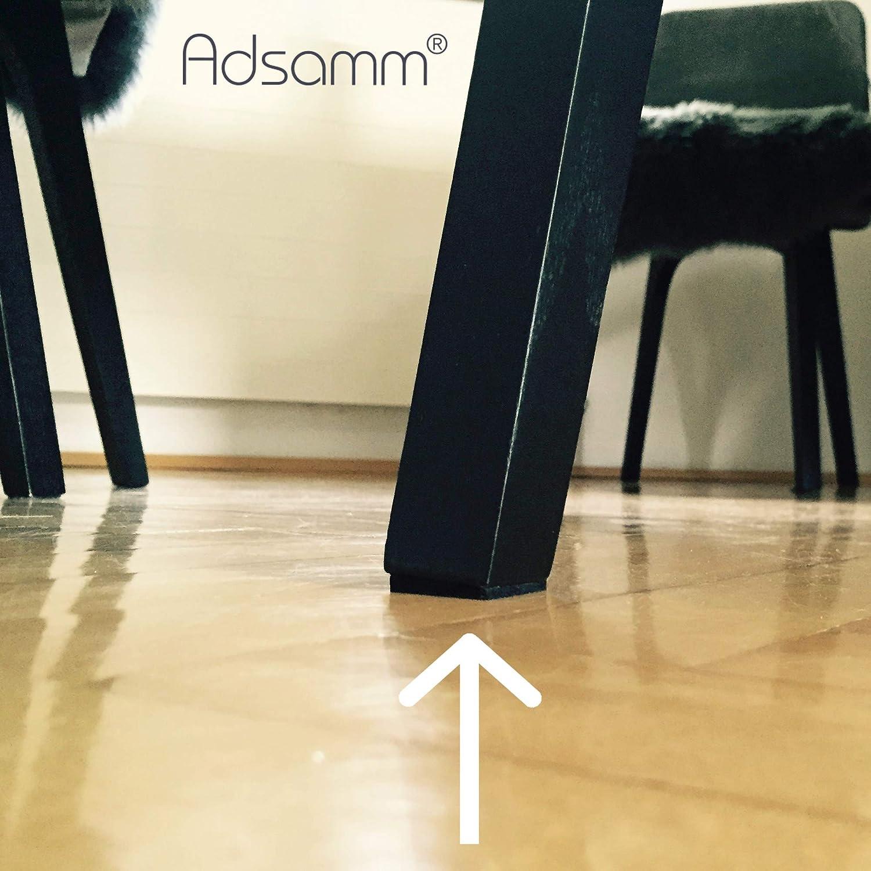 Adsamm/® 28 x patins en feutre marron 3,5 mm hauteur |/patins glisseurs auto-adh/ésifs de qualit/é optimale 20x30 mm rectangulaire