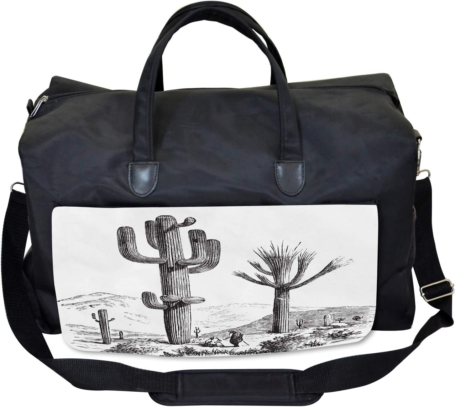 Large Weekender Carry-on Ambesonne Desert Gym Bag Sketchy Mexican View