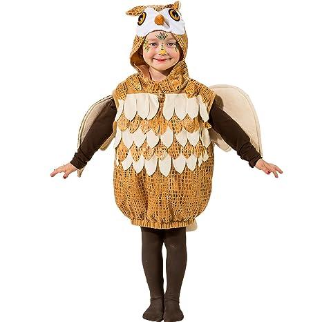 Orlob Karneval GmbH Disfraz de niño Búho Mono de Animal tamaño 104 ...