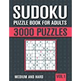 Sudoku Puzzle Book for Adults: 3000 Medium to Hard Sudoku Puzzles with Solutions - Vol. 1