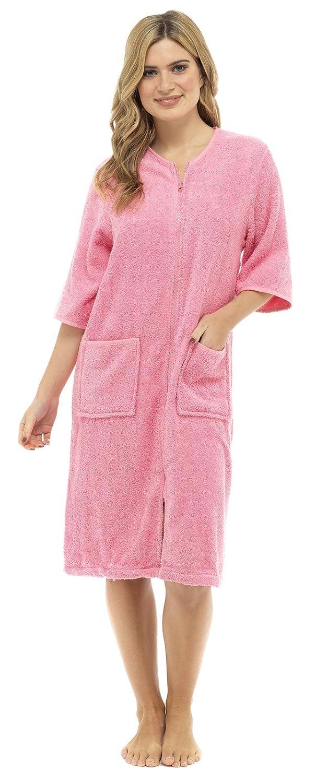 Lora Dora Womens Zip Through Dressing Gown: Amazon.co.uk: Clothing
