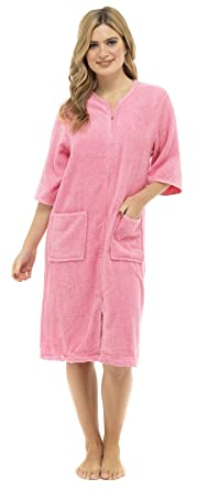 Lora Dora Womens Zip Through Dressing Gown Amazoncouk Clothing