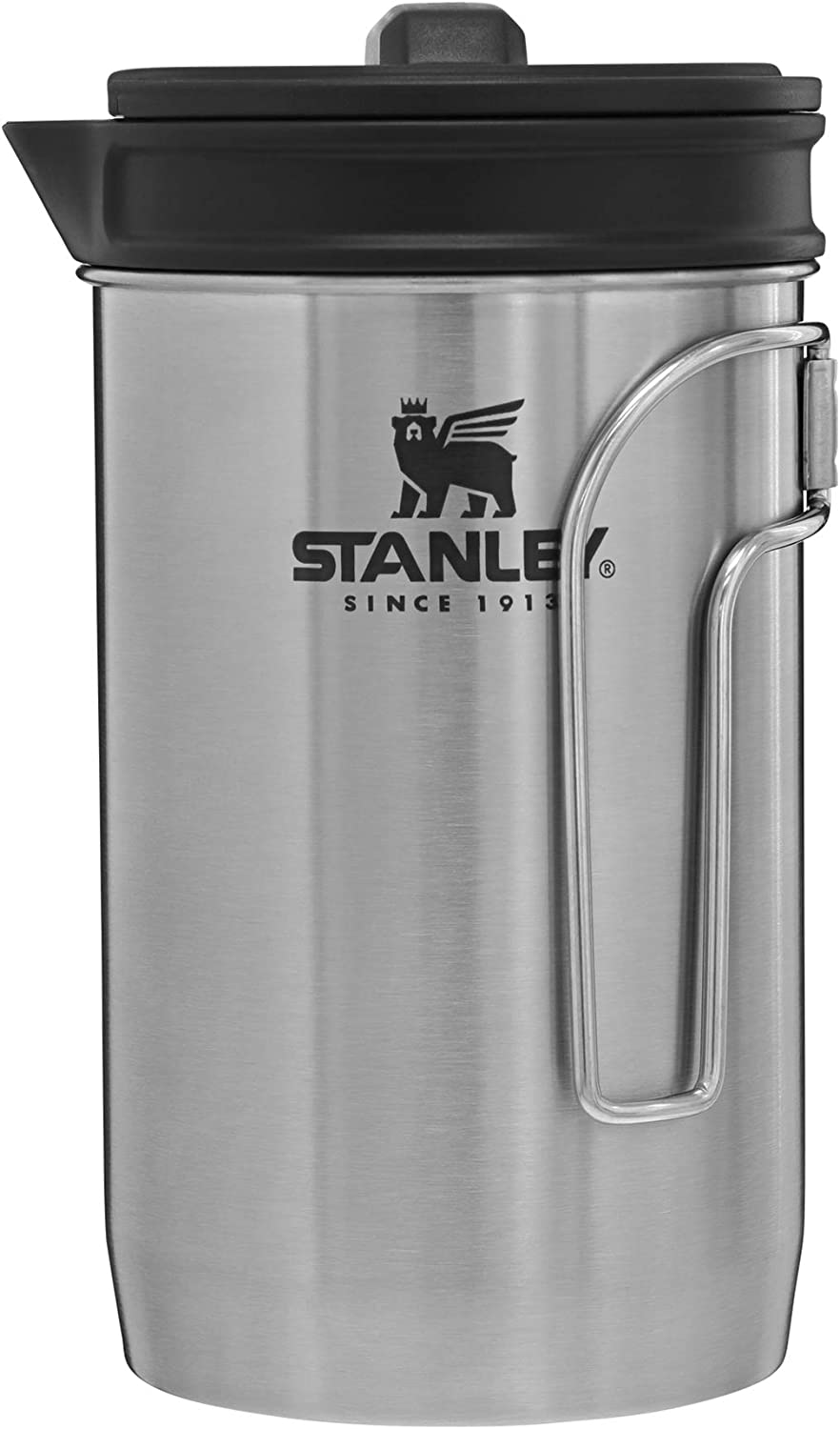 Stanley Adventure All-in-One, Boil + Brewer French Press Coffee Maker - 32oz BPA Free Campfire Coffee Pot Heats up Tea or Soup - Great for Camping and Travel – Dishwasher Safe,