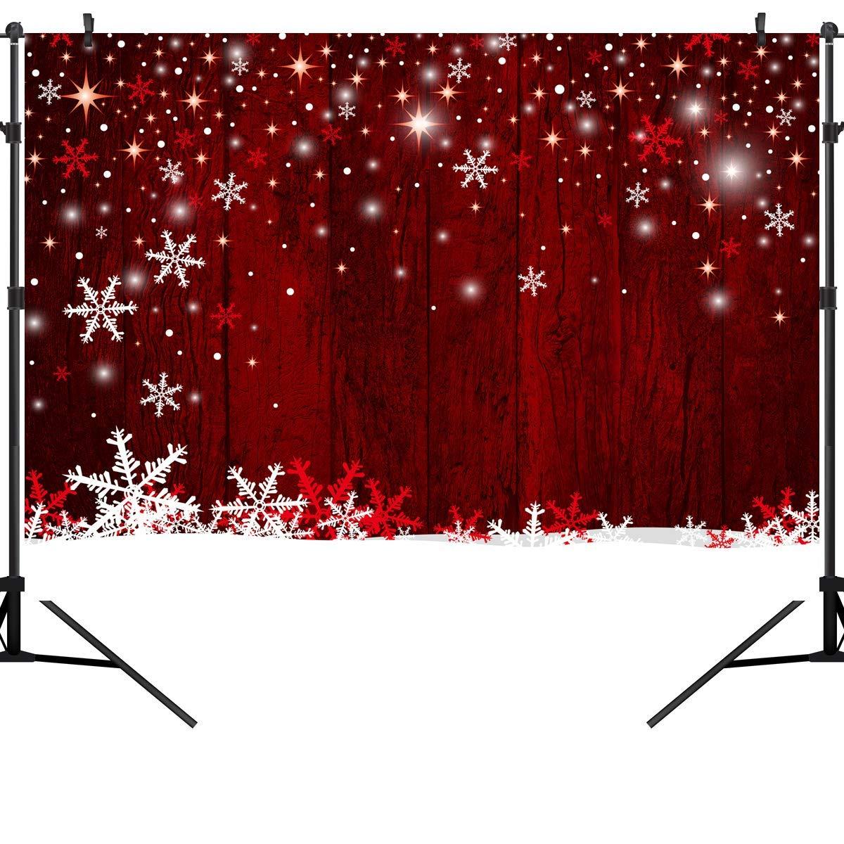 CdHBH 10X8フィート クリスマステーマ 暖炉 ビニール写真背景写真 スタジオ小道具 CEM06C 7X5FT CEM08 B07LB5HGNM