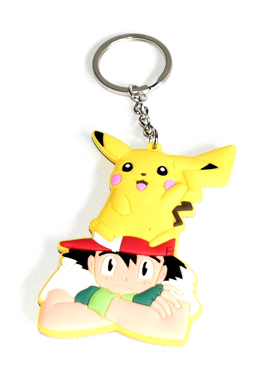 Pokemon Pikachu - Llavero de goma con diseño de ángel ...