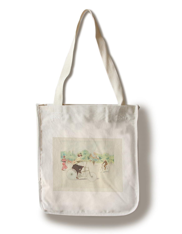 自転車プリントヴィンテージ風ポスター(アーティスト: Vallet )フランスC。1885 Canvas Tote Bag LANT-61745-TT B018423OV2  Canvas Tote Bag