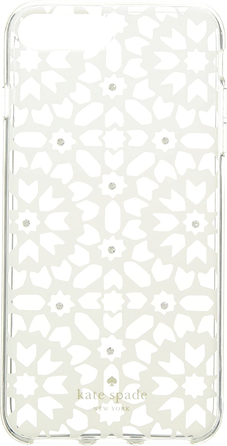 Kate Spade New York Women's Jeweled Floral Mosaic Clear Phone Case for iPhone 7 Plus/iPhone 8 Plus Clear Multi One Size