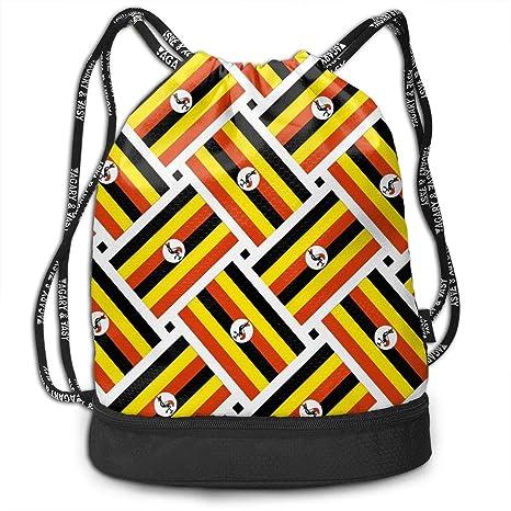 Amazon.com: Bolso bandera de Uganda con cordón para el ...