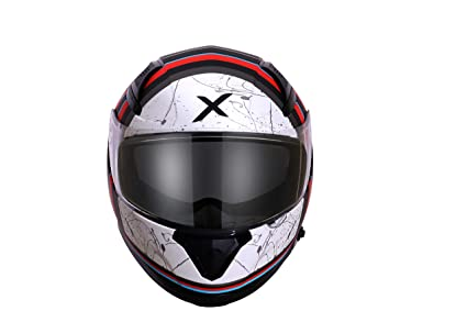 d129b74d Axor Apex Liberty D/V Full Face Helmet (Dull Black and Red, L ...