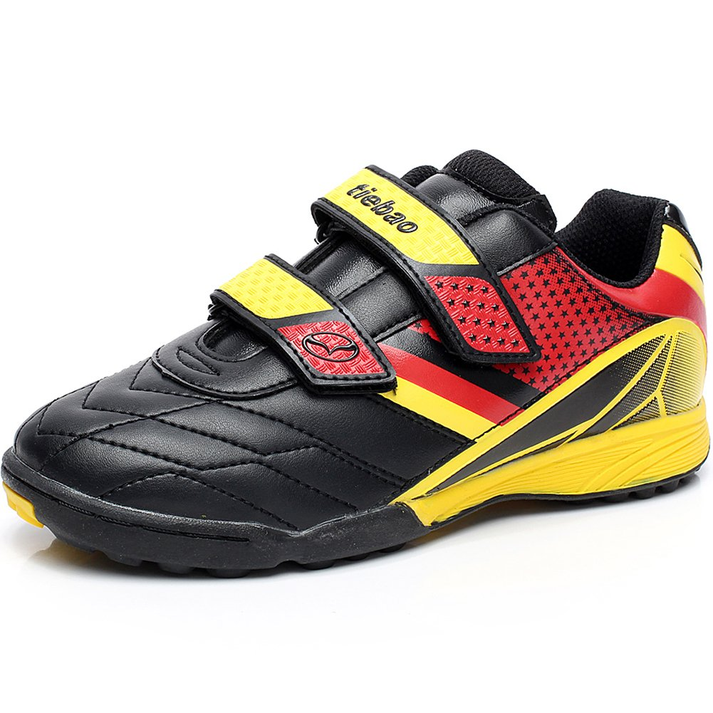 Tiebao Boys' Hard Ground Indoor Pu Leather Soccer Shoes FS-201