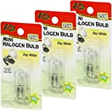 (3 Pack) Zilla Mini Halogen Bulb, Day White, 25 Watt