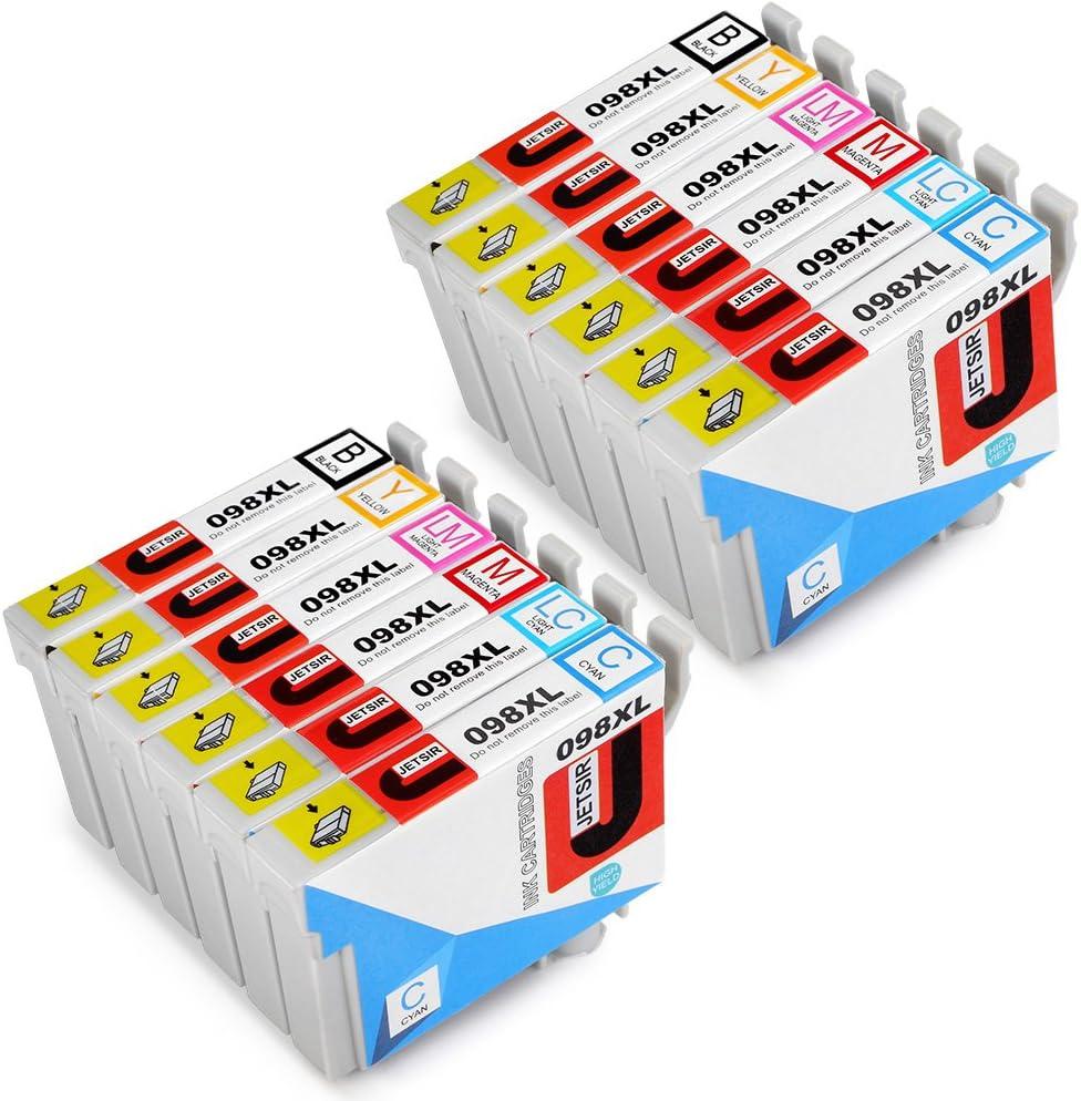 Genuine Epson T098 3-Pack Cyan Magenta 710 Yellow Ink Cartridges Artisan 700