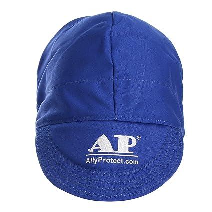 ChaRLes Universal Elástico De Soldadura Ignífugo Paño Sombrero Gorra De Protección De Cabeza - Azul