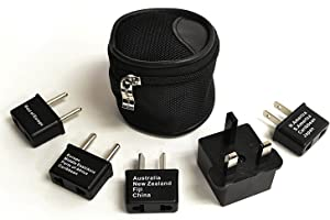Ceptics International Worldwide Travel Plug Adapter 5 Piece Set, Great for Cell Phones, Battery Chargers, Laptops to Work in Most Countries
