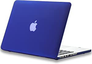 Kuzy - Older MacBook Pro 15.4 inch Case Model A1398 with Retina Display Soft Touch Plastic Hard Shell Cover - Navy Blue