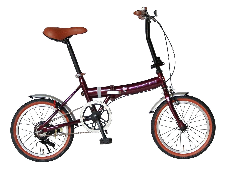 Rover(ローバー) FDB160 16インチ小型コンパクト折りたたみ自転車 クラシック調バイク 18216  レッド B01NCJ0ZHZ