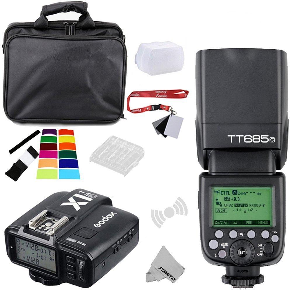 Fomito Godox TT685N I-TTL II 2.4GHz Wireless Master/External Camera AutoFlash Speedlight & X1T-N Transmitter Trigger HSS for Nikon D810 D800E D7200 D60 D5500 DSLR Cameras, SB900 SB910 Flashes LYSB01FDWYI5W-ELECTRNCS