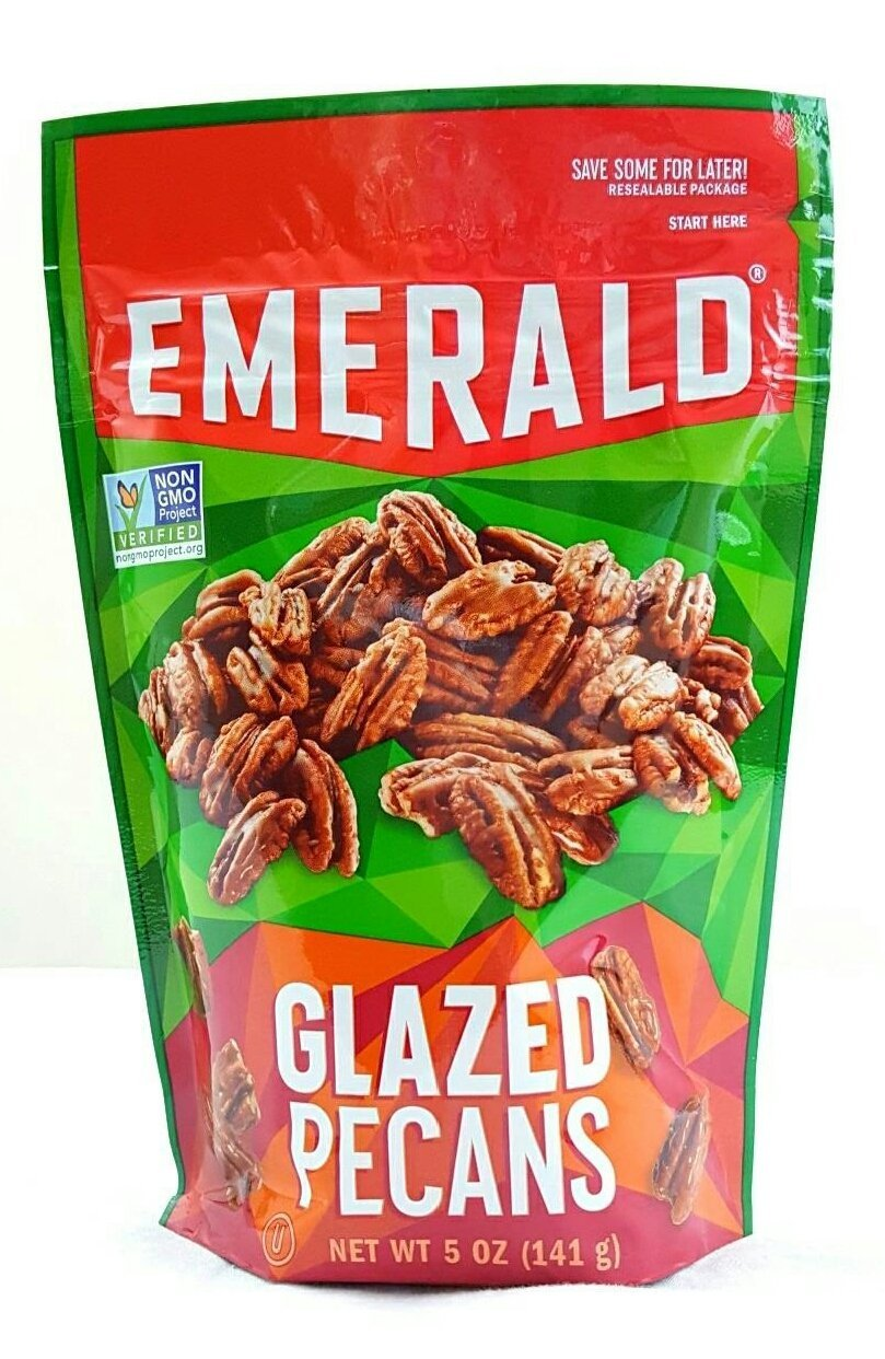 Emerald Glazed Pecans Non GMO Verified (Pack of 2) by Emerald