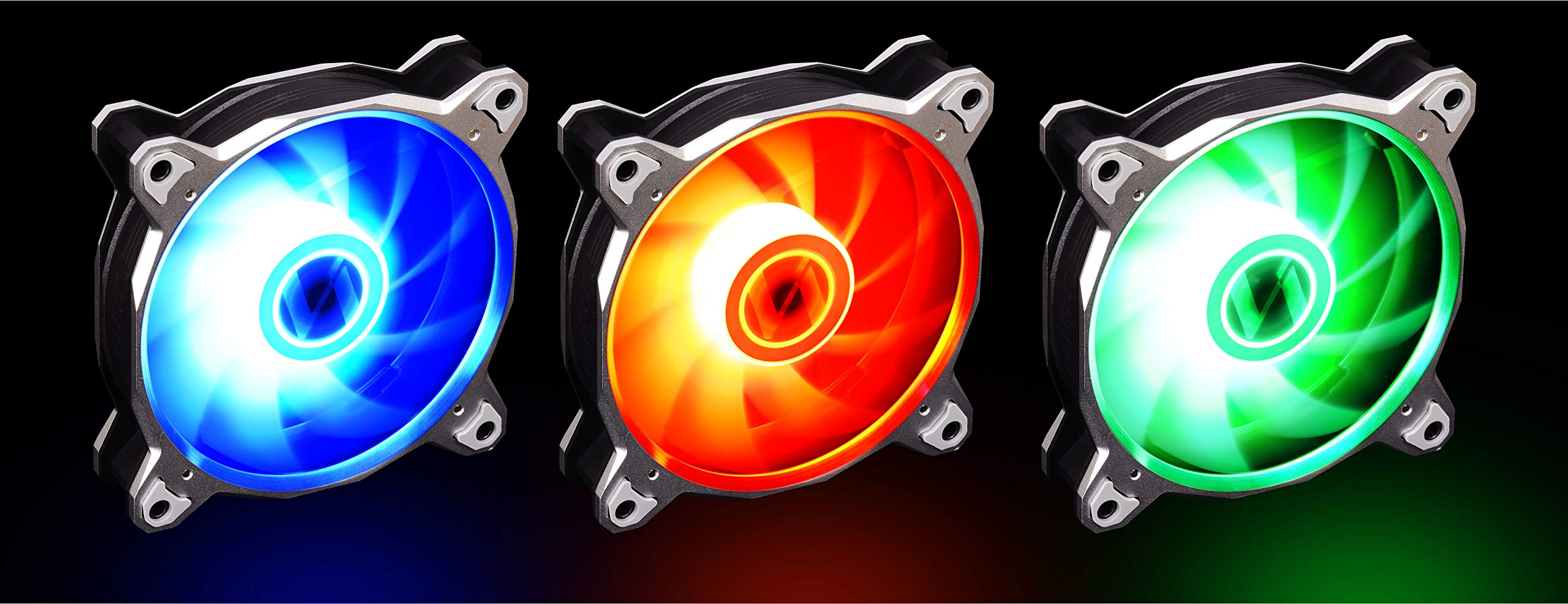 Lian Li BORALITE120 Silver RGB 120mm LED PWM Fan 3 Pack - Silver Frame Cooling