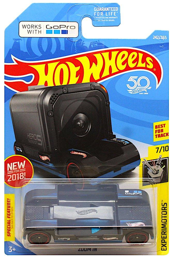 Hot Wheels 2018 50th Anniversary Experimotors Zoom In 242/365, Black Mattel