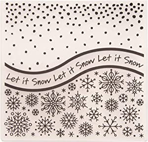 Kwan Crafts Snowfall Let it Snow Snowflake Plastic Embossing Folders for Card Making Scrapbooking and Other Paper Crafts, 15x15cm
