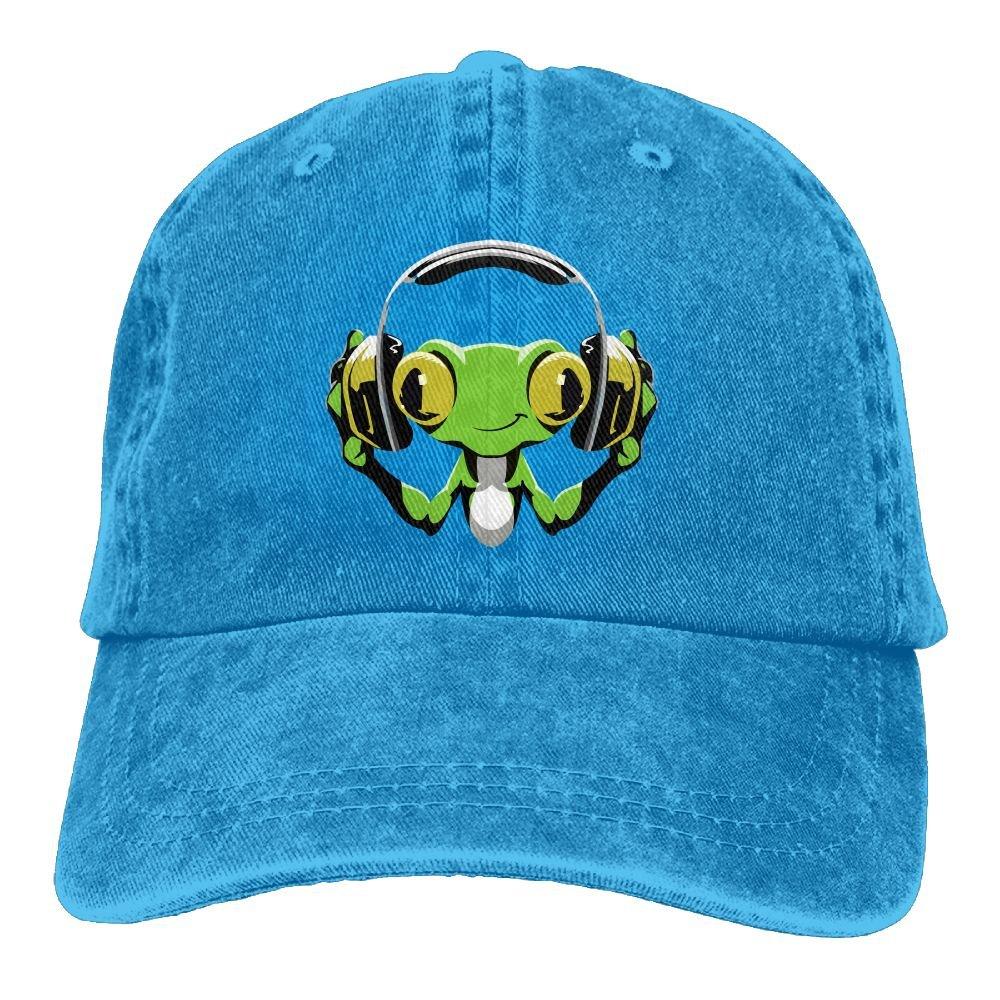 DJ Peace Plain Adjustable Cowboy Cap Denim Hat for Women and Men