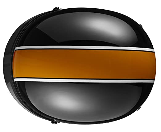 Amazon.com: Lg Motorcycle Moped Biker orange Stripe Half Face Helmet Cruiser touring Chopper Harley: Sports & Outdoors