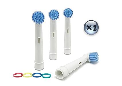 UCA® EBS17 - 8 cabezales para cepillo de dientes eléctrico de repuesto compatible con Braun Oral B Sensitive Clean 3D
