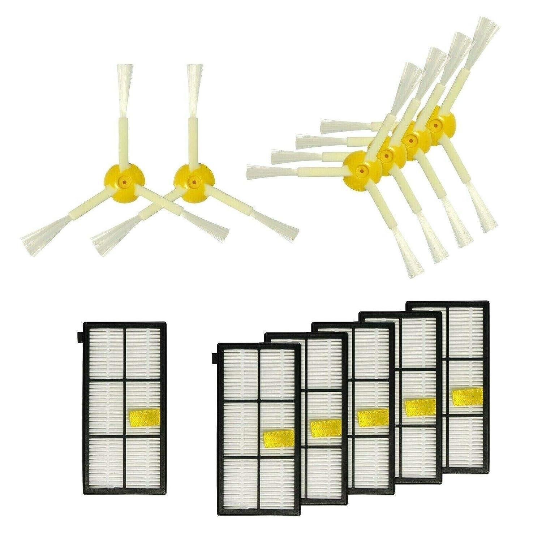 Juego de accesorios 6 x filtro, 6 x cepillos laterales de repuesto para iRobot Roomba 800 866 870 871 876 880 886 980: Amazon.es: Hogar